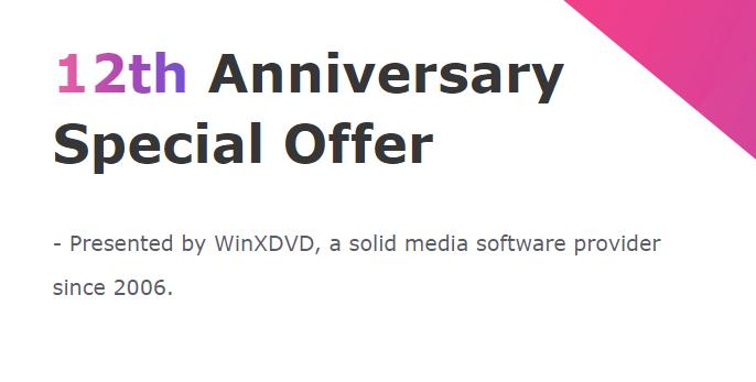 5 giorni di Giveaway dedicati al 12° compleanno di WinXDVD