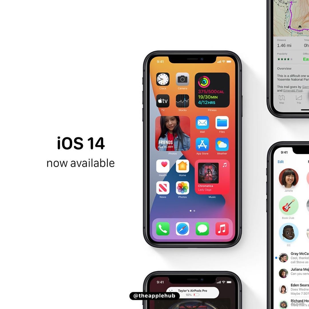 Apple rilascia iOS 14 e iPadOS 14. Ecco i device compatibili ed i links per il download