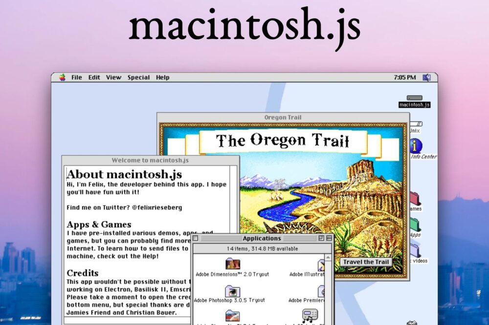 Mac OS 8 ricreato in Javascript da scaricare come App per Windows, Mac e Linux