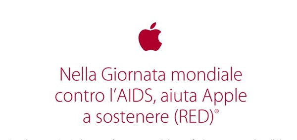 Compra un regalo da Apple e aiuta la lotta all'AIDS con RED