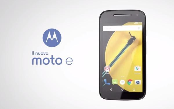 Motorola Moto E � il nuovo smartphone entry-level con LTE e Lollopop. Ecco scheda tecnica, immagini e video