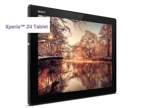 Sony svela Xperia Z4 Tablet il pi� leggero e potente con Android e Xperia M4 Aqua. Ecco Immagini, video e scheda tecnica completa