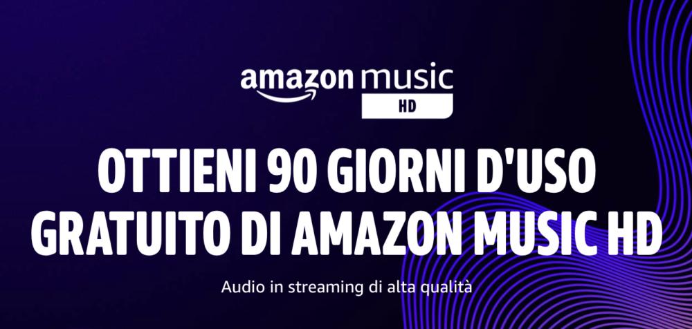 Come avere 90 giorni di uso gratuito di Amazon Music HD