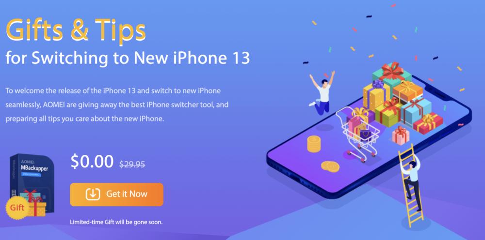 Prepariamoci all'arrivo di iPhone 13 con AOMEI MBackupper offerto gratis e tanti Tips dedicati