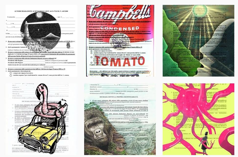 Esiste un profilo Instagram con le Autocertificazioni Illustrate ad arte dagli utenti