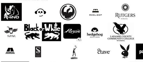 black_and_white_logos_wall