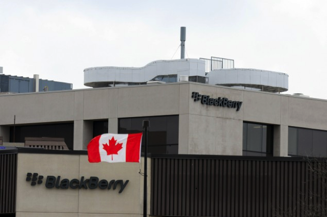 Blackberry hq canadian flah