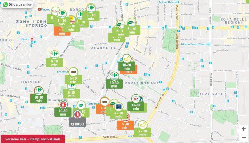 DoveFila, il servizio online per sapere dove c'è la fila al supermercato