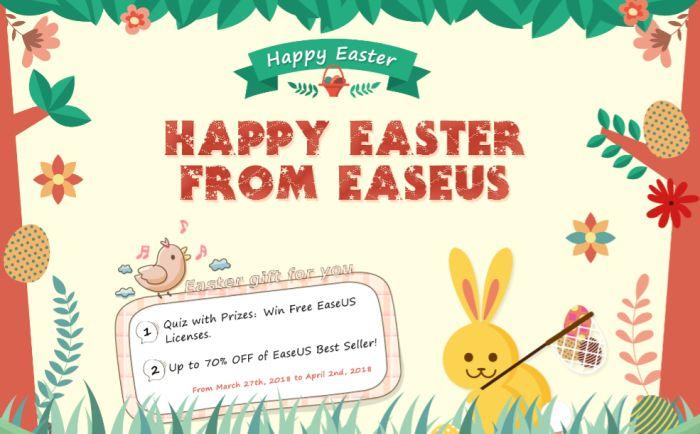 10 Programmi Gratis da EaseUS Software in un concorso per questa Pasqua 2018