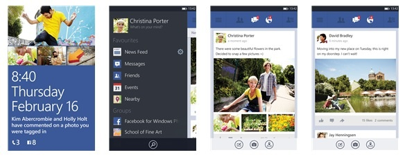 Facebook beta wp8 shot