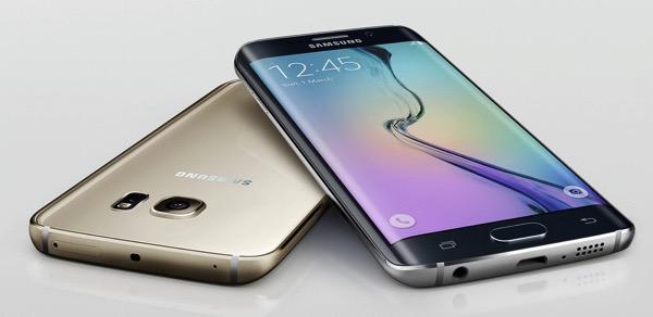 Galaxy S6 edge gold black
