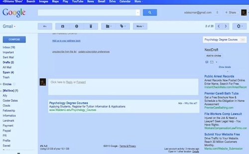 Gmail blue chrome