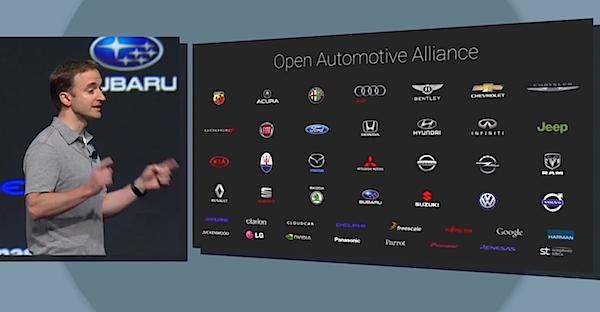 Google io2014 android auto marchi