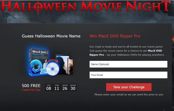 500 copie al giorno di MacX DVD Ripper Pro in un concorso tutto Horror per questo Halloween 2017