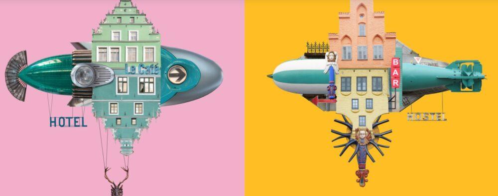 Il sito web per volare con gli oggetti, con gli hotel e con l'arte di Matthias Jung
