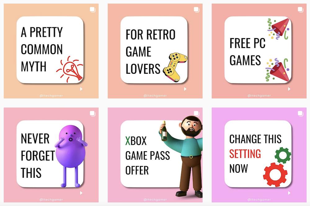 Il profilo Instagram con Tips, Consigli e Links per veri Gamer (e appassionati)