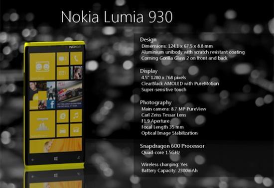 Lumia 930 specs