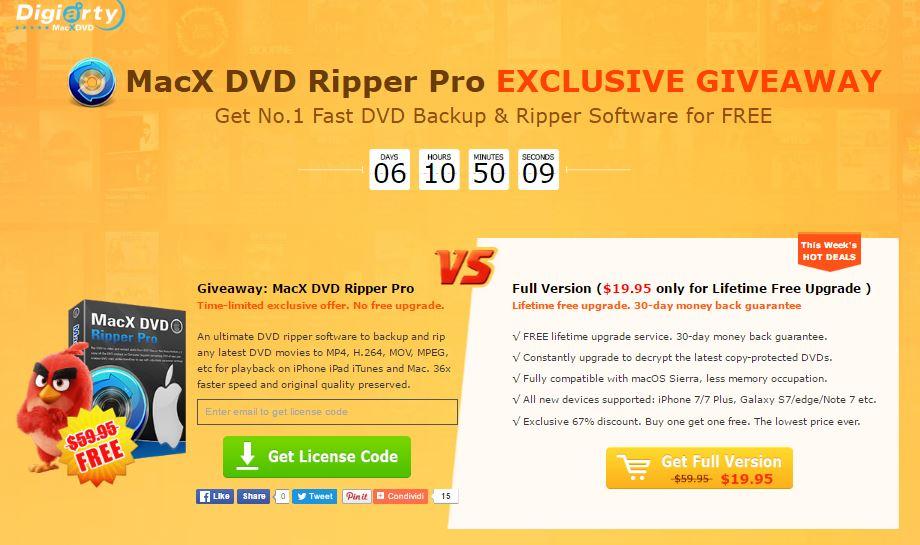 6 giorni per avere Macx DVD Ripper Pro a Gratis per questo Halloween 2016