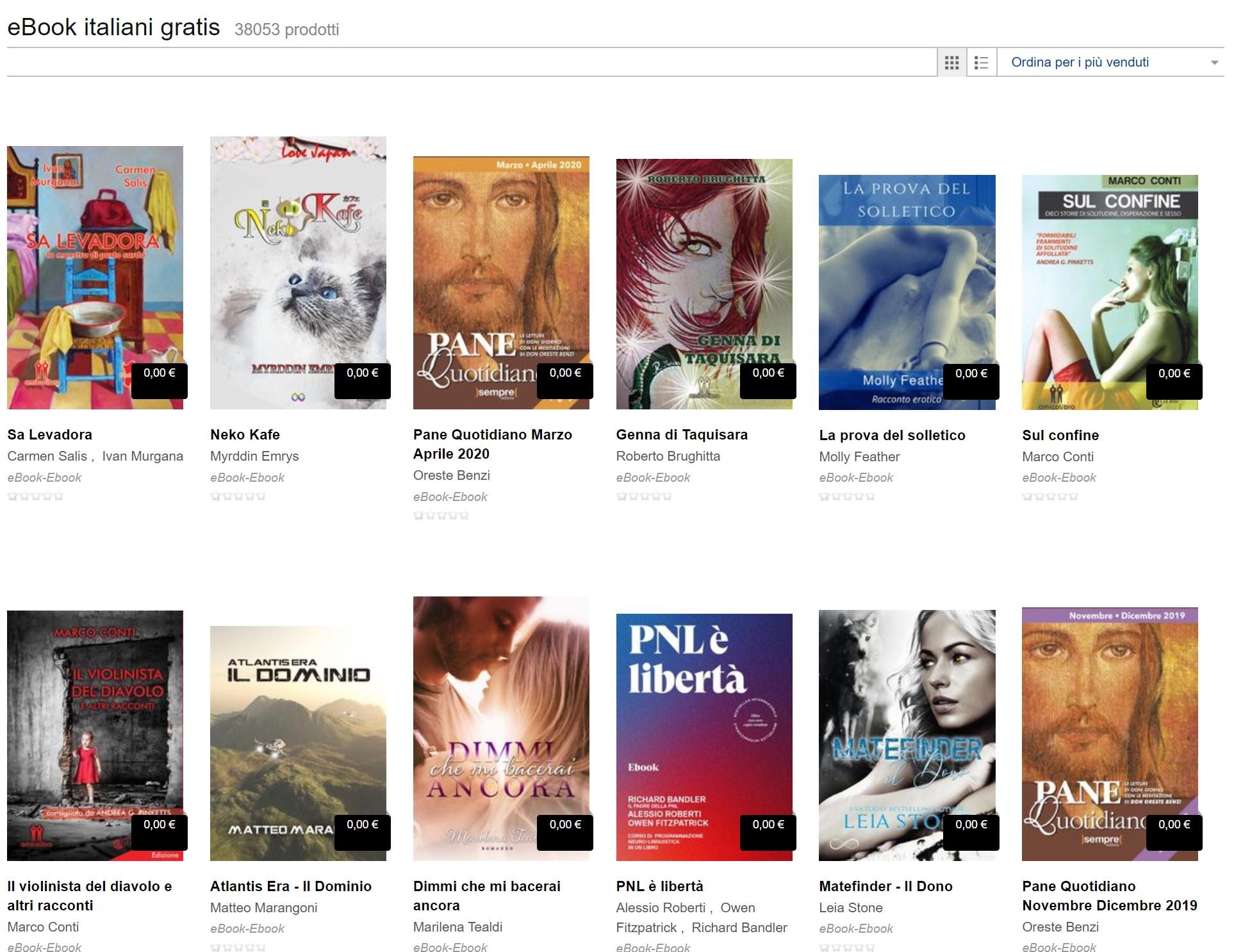38.000 ebooks Italiani da leggere Gratis su Mondadori Store
