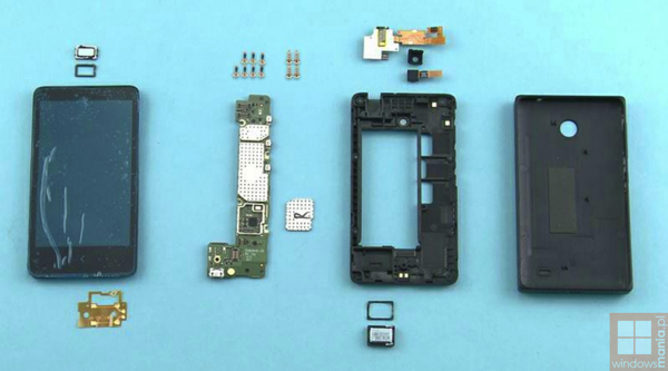 Nokia X disassembly