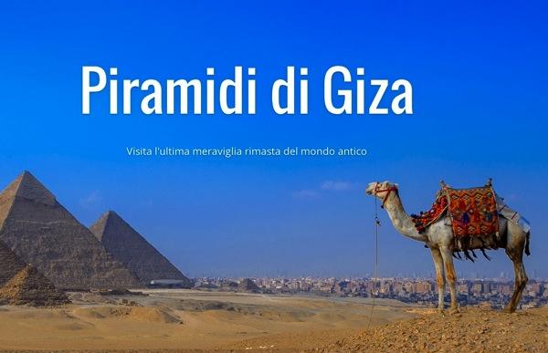 Google Street View permette oggi di frequentare le Piramidi di Giza in Egitto