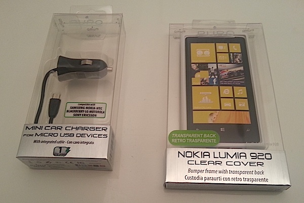 Puro clear cover micro car charger lumia 920