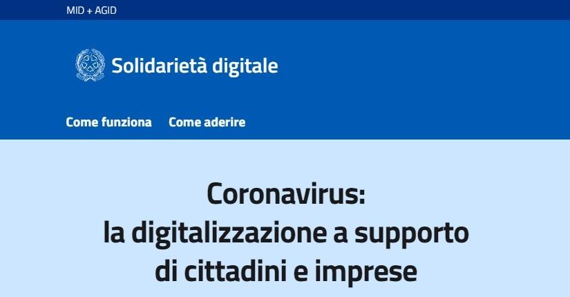 Solidarietà digitale per il Coronavirus: offerte, promozioni, e abbonamenti gratis