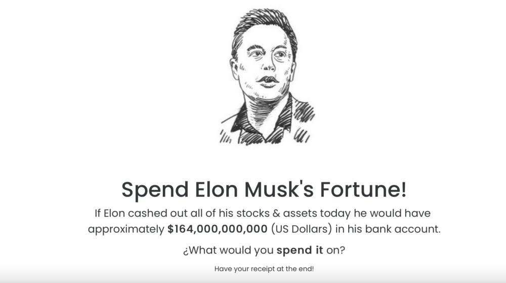 Come spendere la fortuna economica di Elon Musk