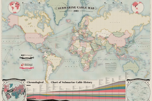 Submarine cables map 2013