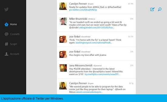 Twitter windows8