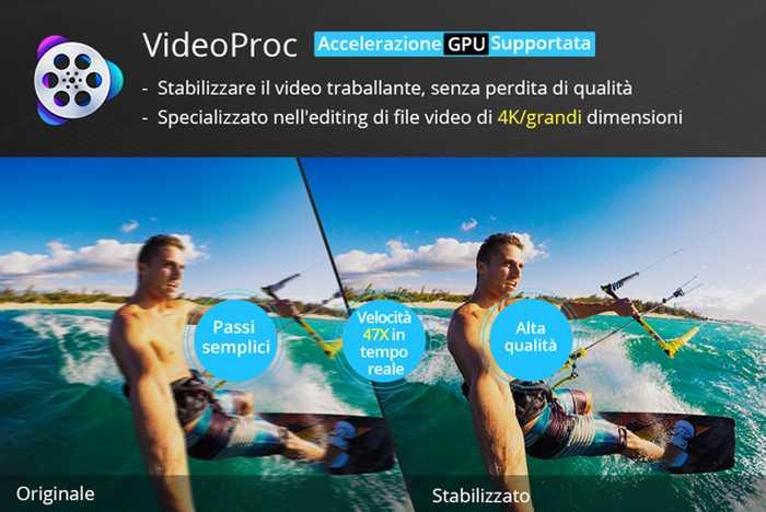 Ottieni VideoProc gratis per stabilizzare i tuoi video tremolati, e vinci le Action Cam: DJI OSMO Action e GoPro Black