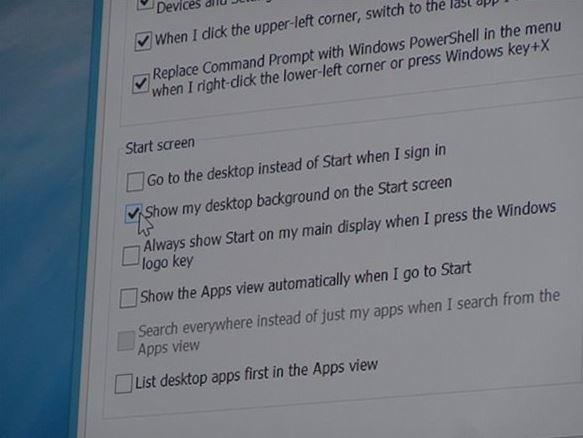 Windows 8.1 Options
