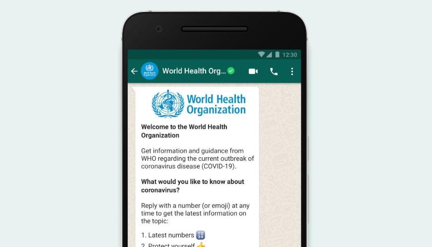 Ultime notizie sul Covid-19? Via Whatsapp dall'Organizzazione Mondiale della Sanità