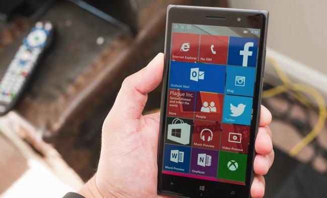 Windows 10 Mobile Hand
