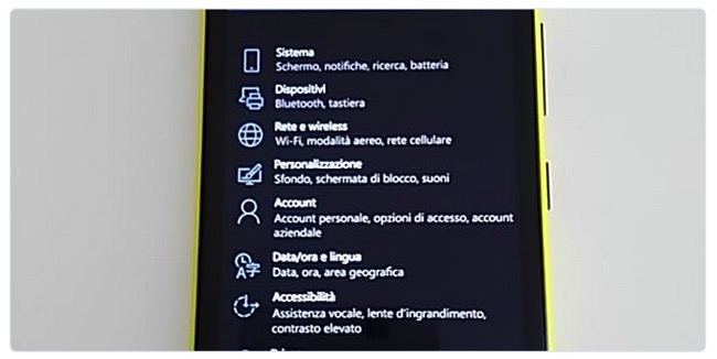Windows 10 Impostazioni
