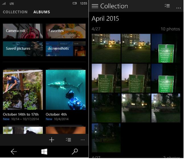 Album Windows 10 for Phones