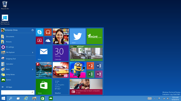 Windows 10 Technical Preview disponibile per il download. Ecco link diretti