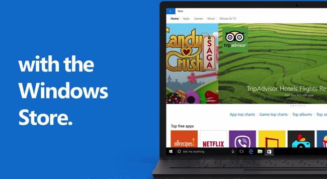 Windows 10 video store