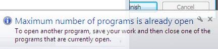 Windows 7 Starte Edition permette di aprire fino a tre applicazioni contemporaneamente