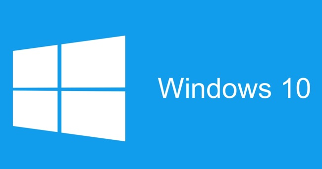 Windows 10 Logo sfondo blu