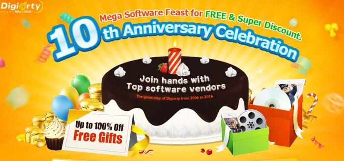 10 anni per WinXDVD. Mega software in regalo per un Giveaway dedicato