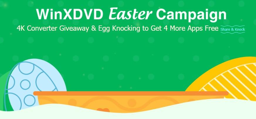 4 Programmi Gratis per Pasqua 2021 grazie al grande Giveaway di WinXDVD