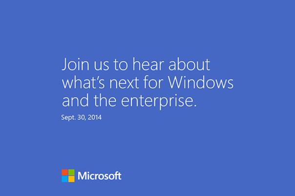 Ufficiale: Windows 9 presentato il 30 Settembre