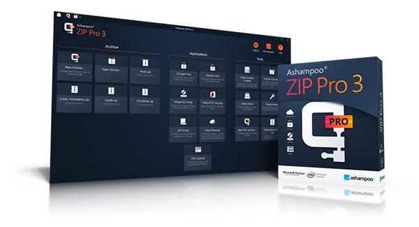 Ashampoo ZIP Pro 3 è la nuova versione dell'archiviatore di file con tante funzioni incluse