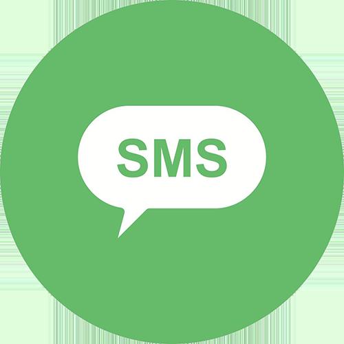 Condividi via SMS