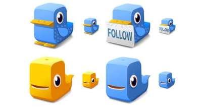 100 set di icone gratis di Twitter