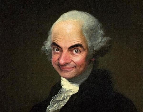 10 ritratti di Mr. Bean all'interno di ritratti d'autore