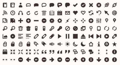 10 set di icone minimaliste
