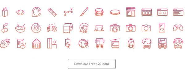 120 icone gratis in stile iOS retina