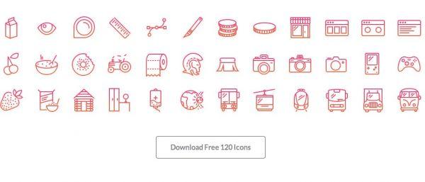 120 icone gratis in stile iOS retina